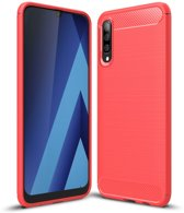 Samsung Galaxy A70 Hoesje - Armor Brushed TPU - Rood