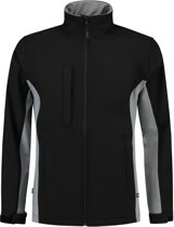 Tricorp soft shell jack bi-color - Workwear - 402002 - zwart / grijs - maat XL