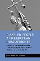 Disabled people and European human rights