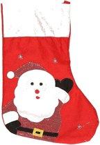 Kerstsok Kerstman rood 45 cm decoratie/versiering