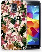 Samsung Galaxy S5 Uniek TPU Hoesje Flowers