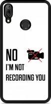Huawei Y7 2019 Hardcase hoesje Not recording you
