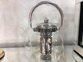 Sener paci - Hittebestendig glazen theepot 1.5 liter - Inclusief filter