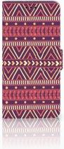 Motorola Moto G6 Plus Uniek Boekhoesje Aztec Purple