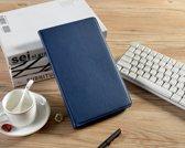 H.K. Draaibaar/Boekhoesje hoesje donkerblauw geschikt voor Samsung Galaxy Tab A 2019 (T510) + Glasfolie en stylus pen
