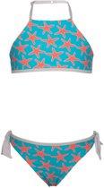 Snapper Rock UV werende Bikini Kinderen Zeester - Blauw - Maat 164-168
