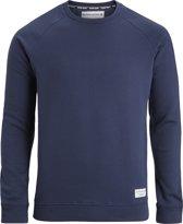 Björn Borg Centre Heren Sweatshirt Navy Geborsteld Fleece Regular Fit - L