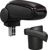 Armsteun-Citroen C2-2003-2009-kunstleer-zwart+rood stiksel