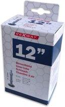 Rexway Fiets Binnenband 12 Inch (47/62-203) Dunlop / Hollands / Blitz Ventiel 32 mm | Zwart