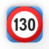 Verkeersbord Rond Dessertbord - 130 - Rood