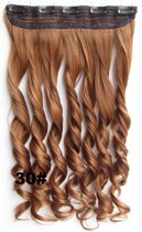 Clip in hair extensions 1 baan wavy rood - 30#