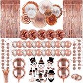 Partizzle® Rose Goud Versiering - Verjaardag Bruiloft Feestartikelen Man Vrouw - XXL Feest Decoratie