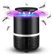 Elektrische UV Muggenlamp XL! - USB insectenverdelger - Grote Insecten / vliegen lamp - Muggen vanger / val - Elektronische insectenkiller - Fly insect killer - Muggendoder - Mosquito trap - Antimuggenlamp - Muggenval - Insectenlamp - 3 in 1 - Zwart