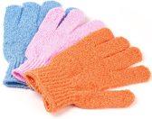 KELERINO. Scrub Handschoenen - Washandje - 4 stuks