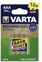 Varta Oplaadbare AAA batterij 750 mAh - 40 stuks