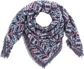 Sjaal Autumn Pattern grijs/bordeaux rood