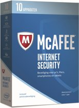 McAfee Internet Security - Nederlands - 10 Apparaten - PC / Mac / iOS / Android