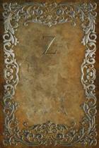 Monogram Z Notebook