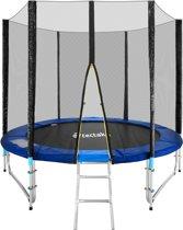 Tectake trampoline 244 cm met veiligheidsnet en ladder - Trampoline