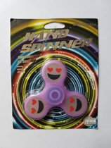Spinner - glow in the dark - roze - smiley