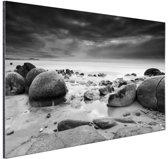 Moeraki Boulders Nieuw Zeeland  Aluminium 120x80 cm - Foto print op Aluminium (metaal wanddecoratie)