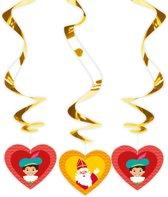 Sinterklaas rotorspiralen - 3 stuks - Sint en Piet versiering