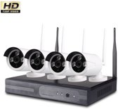 Wireless Beveiligingscamera set met 4 Cameras Outdoor Buiten 1080p