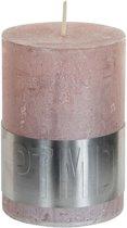 PTMD Kaars metallic pink 10x7cm
