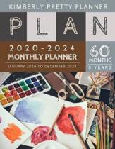 Monthly Planner 5 year: 60 month planner 2020-2024 Five Year Planner - 60 Months Calendar, 5 Year Appointment Calendar, Business Planners, Age