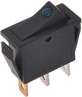 Proplus Wipschakelaar LED blauw 12V / 24V-max. 10A - blister