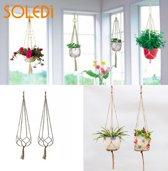 Soledi Plantenhanger - 2 stuks - Macramé Planten hanger - Plantenhouder - Hangplant - Handgemaakt