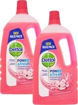 Dettol Power & Fresh - Allesreiniger - Kersenbloesem - 2 x 1,5 liter