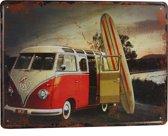 Retro Wandbord - Volkswagen bus bord – VW bord – Peacebus bord - Vintage bord - Muur Decoratie - Metalen bord - Emaille Reclame bord - Wandborden – Mannen cadeau - Mancave Decoratie - Garage - Bar - Cafe - Restaurant Style
