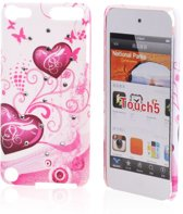 iPod Touch 5 Hard Case Hoesje - Purple Hearts