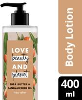 Love Beauty and Planet Body Lotion Shea Velvet - 400 ml - Shea Butter & Sandalwood Oil