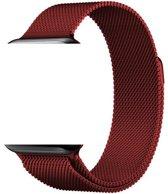 KELERINO. Milanees bandje voor Apple Watch 1/2/3 (42MM) 4 (44MM) - Rood