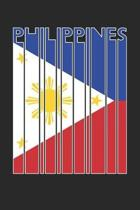 Vintage Philippines Notebook - Retro Philippines Planner - Filipino Flag Diary - Philippines Travel Journal