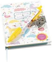 Floss & Rock Zeemeermin - dagboek met geurpen - 10 x 15 cm - Multi