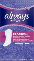 Always ProFresh Normal Enkelpak - 26 stuks - Inlegkruisjes