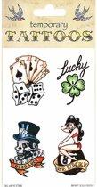 Halloween - Good luck tattoos 4 stuks