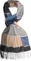 Profuomo heren sjaal winter ruit camel grey_ONESIZE, maat One size