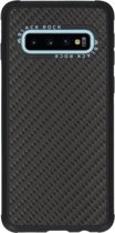 Black Rock Real Carbon Backcover Samsung Galaxy S10 hoesje - Zwart