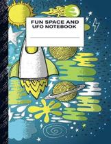 Fun Space and UFO Notebook: Boys' and Girls Fun Handwriting and Printing Practice Notebook for Grades K-2-3