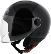 MT Street helm glans zwart XS