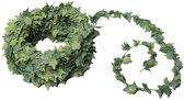 10x Mini klimop kunstplant guirlande 7,5 meter - Urban jungle - Botanisch thema decoratie slingers bruiloft/themafeest
