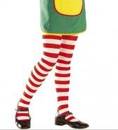 Kinder panty Pippi rood wit 7-10 jaar