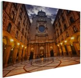 Klooster van Montserrat Glas 90x60 cm - Foto print op Glas (Plexiglas wanddecoratie)