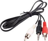 Mini Jack Naar Tulp Stereo Verloop Kabel Adapter- 3,5 MM Aux To 2x RCA Audiokabel