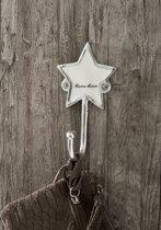 Riviera Maison - Étoile Hook - Babykameraccessoires - zilver/wit - Aluminium