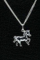 Zilveren Paard ketting hanger - 2